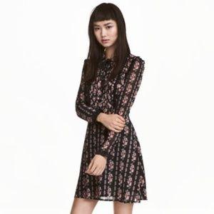 H&M Chiffon dress with frills S 8 NWOT